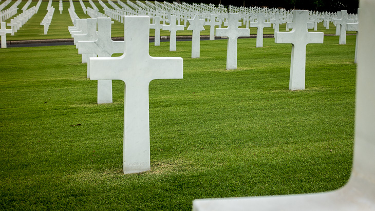 17,000 markers at the American Memorial