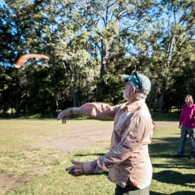 Boomerang throwing - a handy skill in the tropics