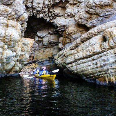 Sea caves along the way