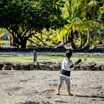 Paul's son, Rahui practices batting