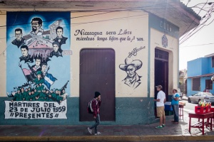 Revolutionary artwork decorates the colonial city of Léon