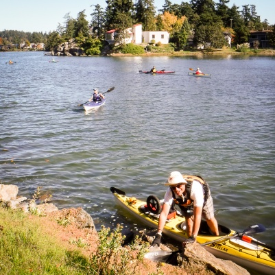 At the start of the portage